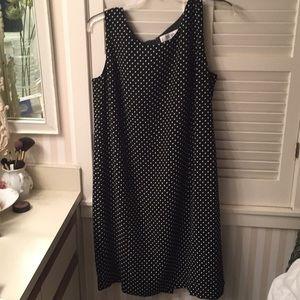 Jones New York Studio black/white polka dot dress